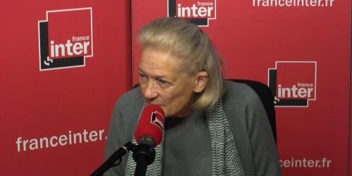 Elisabeth Badinter et M. Le pen